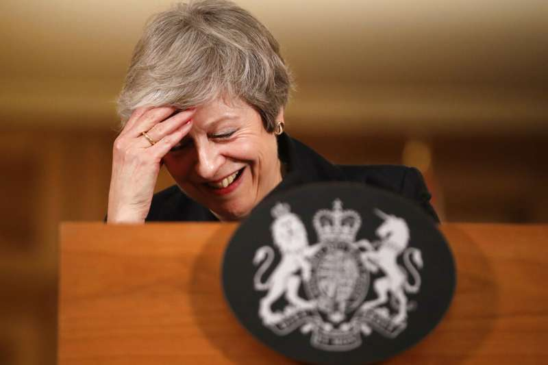 英國首相梅伊。(美聯社)