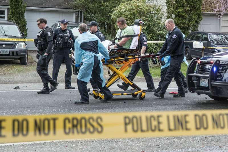 2019年3月27日,美國西雅圖市發生槍擊案,造成2死2重傷。(美聯社)