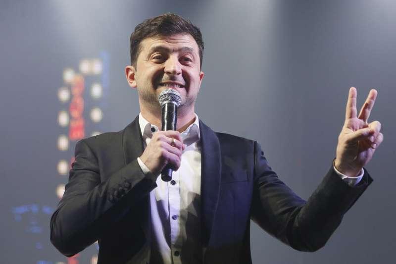 2019年烏克蘭總統大選的黑馬——喜劇演員哲連斯基(Volodymyr Zelensky)。(AP)