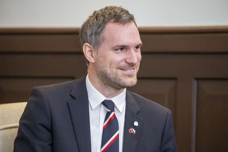 2019年3月30日,總統蔡英文接見捷克布拉格市長賀瑞普,感謝他對台灣的支持。(總統府提供)