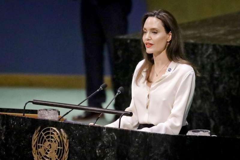 聯合國難民署特使、美國好萊塢女星安潔莉娜裘莉(AP)