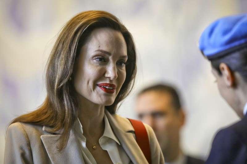 好萊塢女星、聯合國難民署特使安潔莉娜裘莉(Angelina Jolie)(AP)