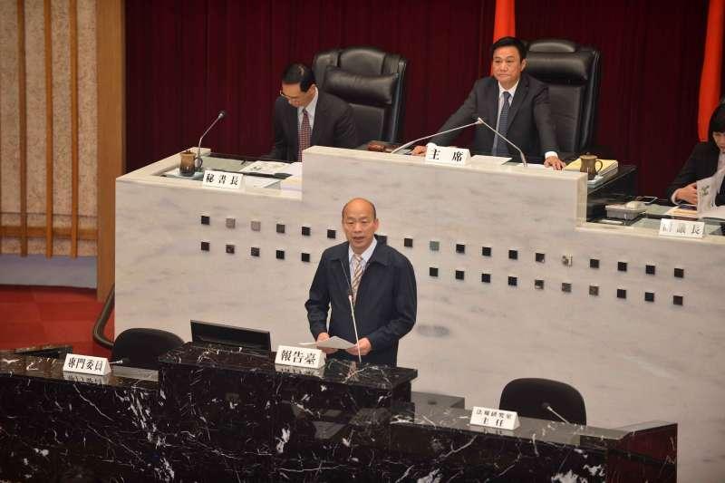 20190401-日前出訪中國的高雄市長韓國瑜簽下多筆合作備忘錄(MOU),遭有心人士批評為賣台。(高雄市政府提供)