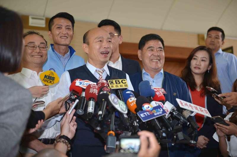 高雄市長韓國瑜說,「民進黨與政治人物自己吃香喝辣、能撈就撈、能貪就貪,這樣子才像禽獸。」(高雄市政府提供)