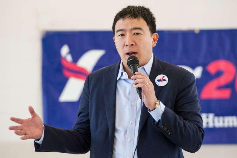 台裔美國人楊安澤爭取民主黨提名角逐白宮大位,而他表態反對嬰兒割包皮(資料照,AP)