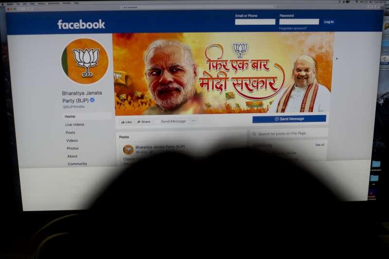 印度大選:45萬首投族成關鍵選票,圖為總理莫迪領導的人民黨臉書粉絲專頁(AP)