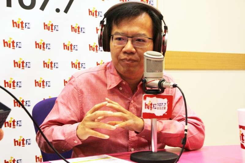 20290402-被視為賴清德子弟兵的台南市議員呂維胤2日上午接受廣播節目專訪。(「Hit Fm《周玉蔻嗆新聞》製作單位提供」)