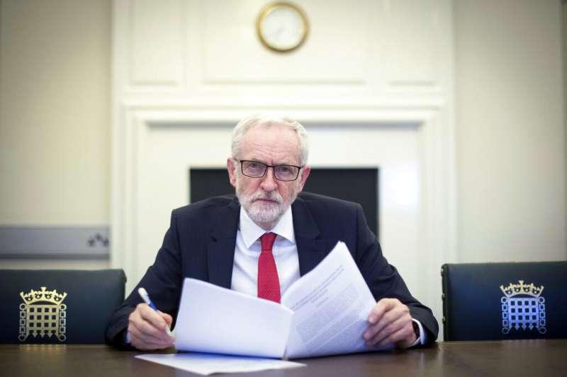 英國工黨黨魁柯賓。(AP)