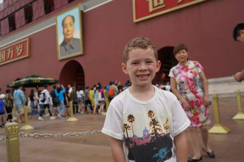 加文(Gavin)在北京天安門廣場。(BBC中文網)