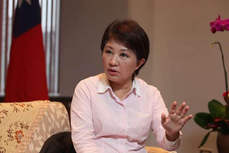 台中市長盧秀燕的維基百科頁面被竄改為「賣國賊」。對此,她14日受訪表示,對於不同的意見,他們會包容、予以尊重。(資料照,新新聞柯承惠攝)