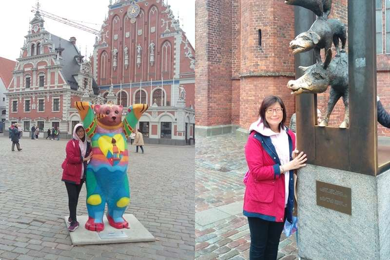 在拉脫維亞首都里加的街頭,發現一些和德國相關的事物。(圖/作者提供)