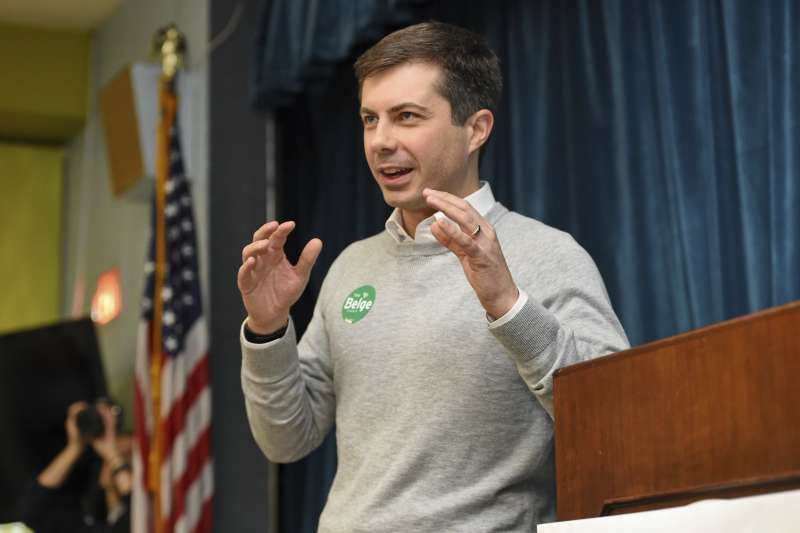 美國民主黨總統初選參選人、印第安納州南本德同志市長巴提吉格(AP)