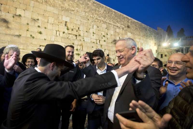 以色列大選:藍白聯盟總理候選人甘茨(AP)