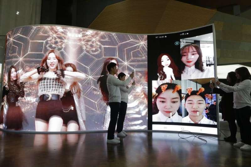 南韓電信商KT在4月3日正式啟用5G服務。(美聯社)