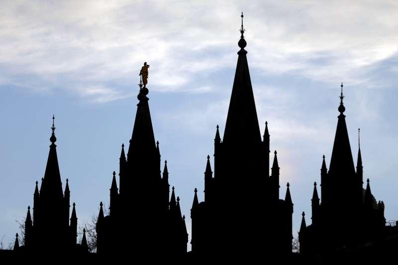 美國俗稱「摩門教」的「耶穌基督後期聖徒教會」,位於猶他州鹽湖城的聖殿(AP)