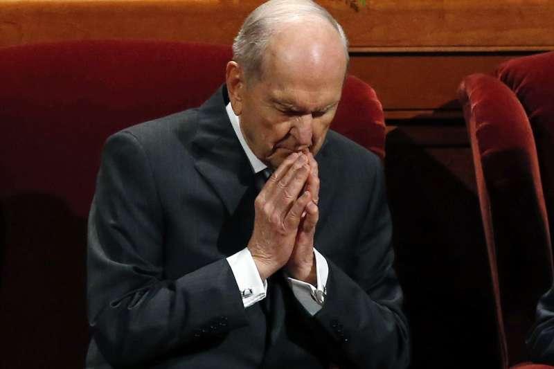 美國俗稱「摩門教」的「耶穌基督後期聖徒教會」,現任總會會長納爾遜(Russell M. Nelson)(AP)