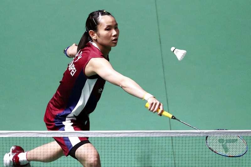 台灣羽球一姐戴資穎9日對戰世界球后奧原希望,但在第3局傷退。(資料照,美聯社)