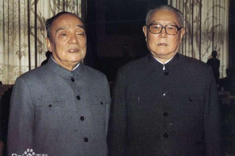 20190406-前中共國家主席主席楊尚昆(左)(取自百度百科網站)