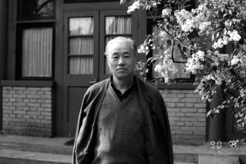 前中共改革派總書記趙紫陽1990年4月17日在北京富強胡同的住所。(VOA)