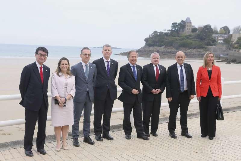 七大工業國集團(G7)外長會議,討論網路安全以及避免俄羅斯及中國網路滲透。(美聯社)