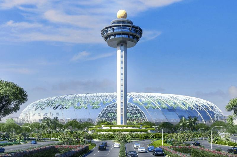 新加坡機場的新建工程名為「星耀樟宜」,已成該國最新打卡熱門景點(新加坡樟宜機場官網)