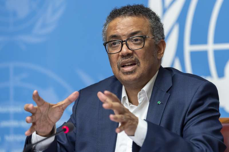 世界衛生組織(WHO)總幹事譚德塞(Tedros Adhanom Ghebreyesus)(資料照,AP)