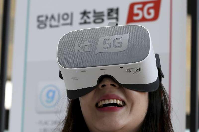 5G時代來臨,南韓2019年4月推出相關產品,這是虛擬實境使用者(AP)