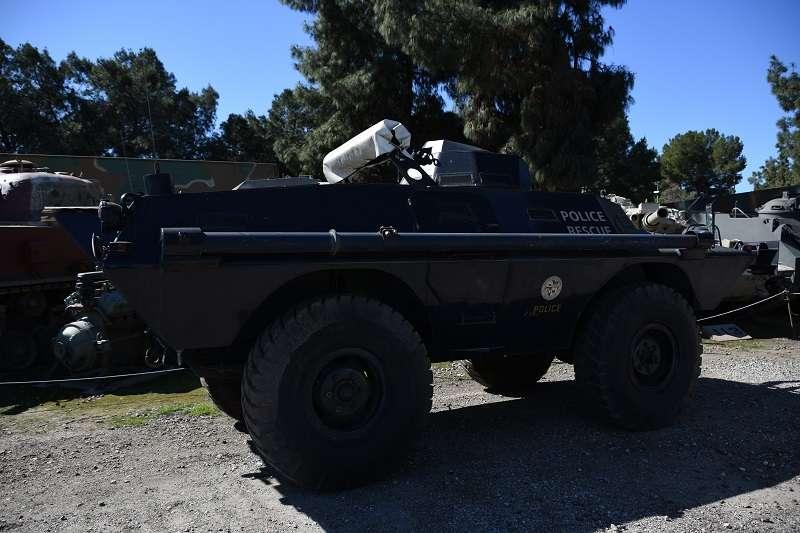 20190408-這輛V-100裝甲指揮車,曾經出現在紀實片《衝出康普頓》中。(作者提供)