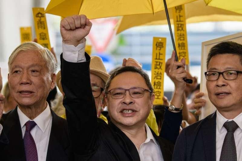 朱耀明(左)、戴耀廷(中)、陳健民被稱為佔中三子。(BBC中文網)