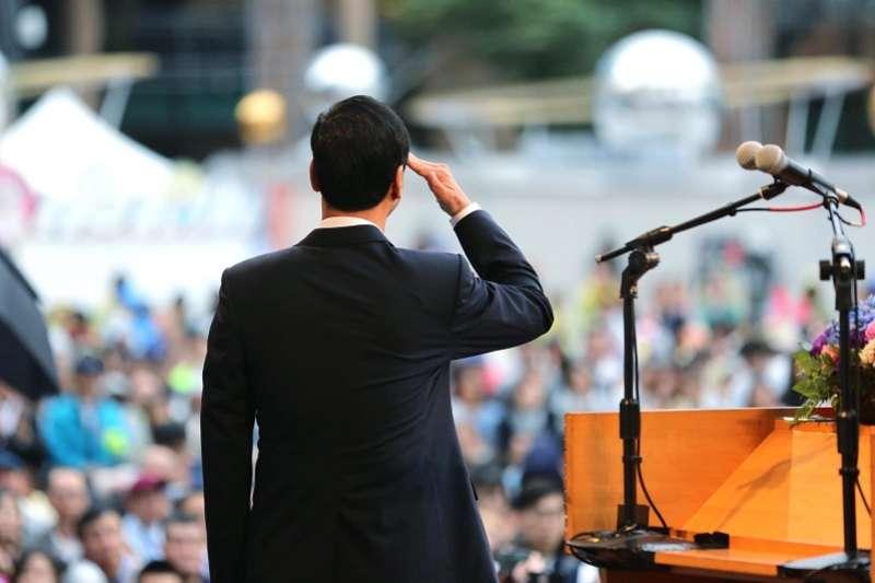 朱立倫卸任新北市長就表明投入總統大選,只是沒料到二、三個月就風雲變色,拱韓聲起。(朱立倫臉書)