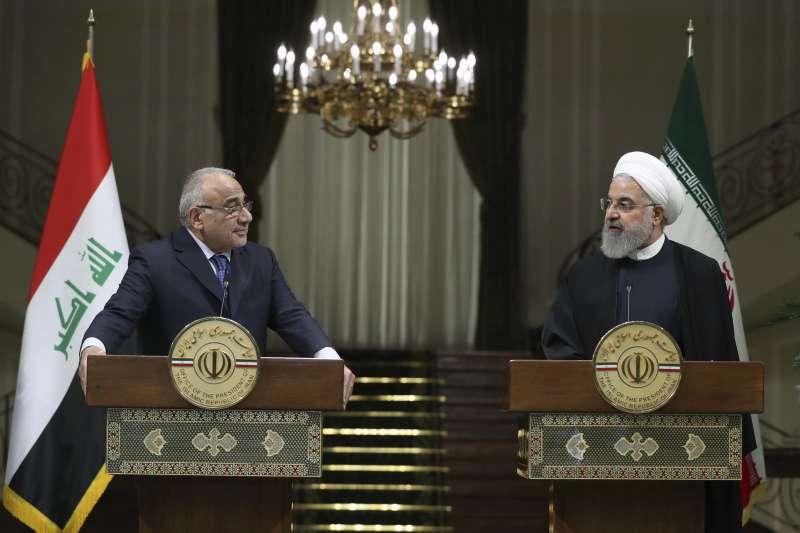伊朗總統魯哈尼與伊拉克總理邁赫迪(AP)