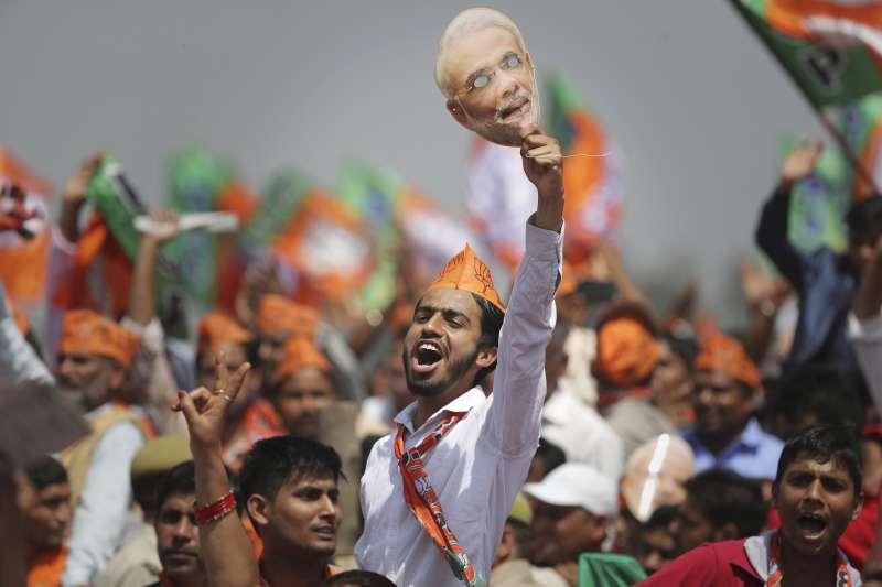 以印度總理莫迪為主題的短片在抖音上廣受年輕人歡迎。(AP)
