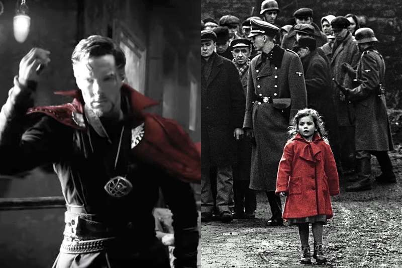 《復仇者聯盟4》最新預告使用非常多「黑白畫面一點紅」的表現方式,到底是什麼意思呢?(圖/取自youtube)