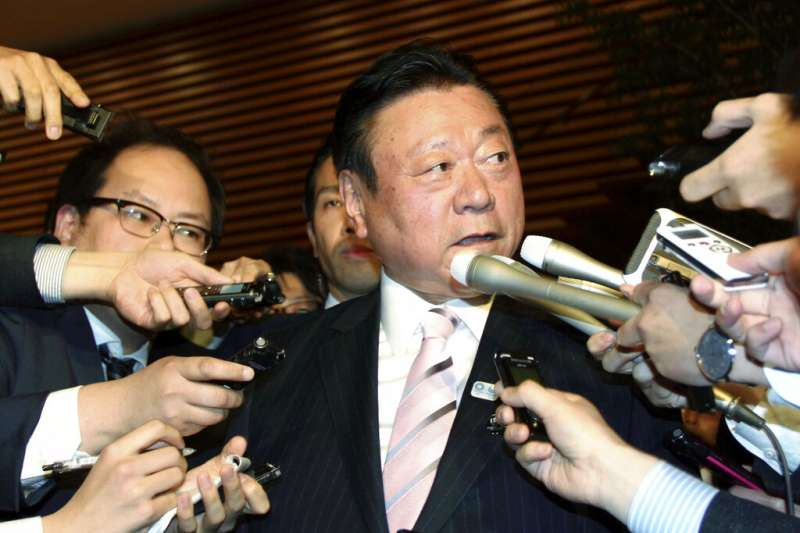 2019年4月10日,日本前奧運大臣失言稱「眾議員比311災後重建重要」,公開向災區民眾致歉。(AP)