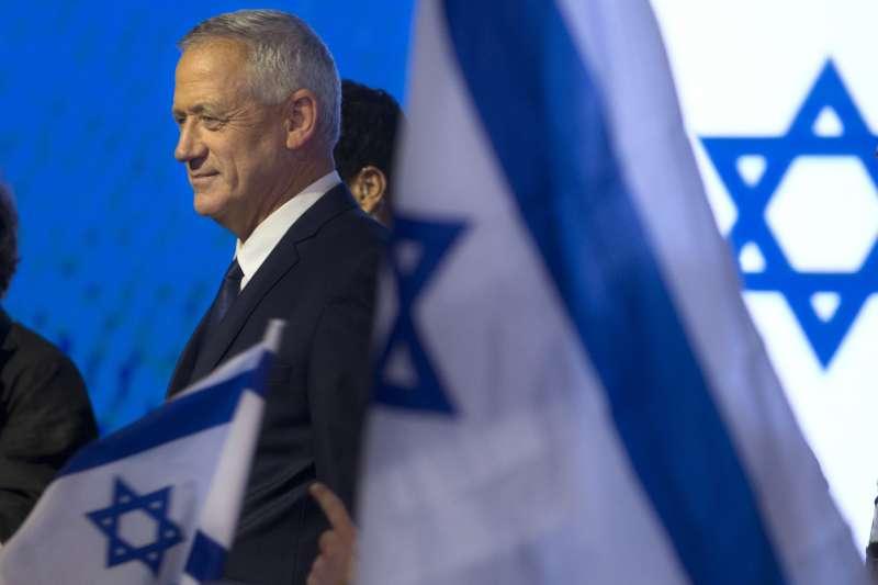 以色列國防軍(IDF)前參謀長甘茨領導的「藍白聯盟」落敗。(美聯社)