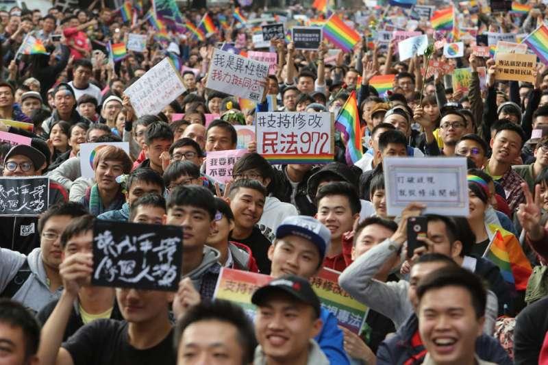 在今年5月24日後,台灣很可能拿下「亞洲第一個婚姻平權國家」的封號。(柯承惠攝)