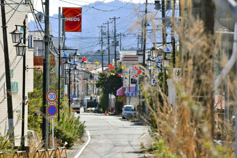 鄰近福島第一核電廠的福島縣大熊町。(資料照,美聯社)