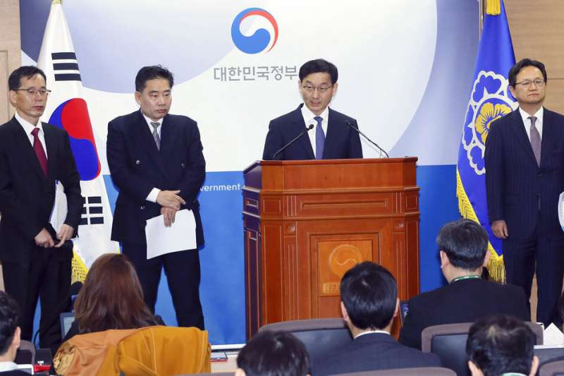南韓總理辦公室發言人12日對WTO的最終判決表示歡迎。(美聯社)