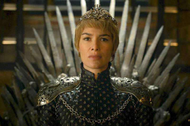 《冰與火之歌:權力遊戲》劇照,圖為飾演瑟曦‧蘭尼斯特的琳娜海莉(Lena Headey)。(AP)