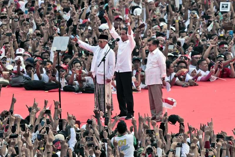 印尼總統大選投票將於2019年4月17日進行,現任總統佐科威聲勢領先(AP)