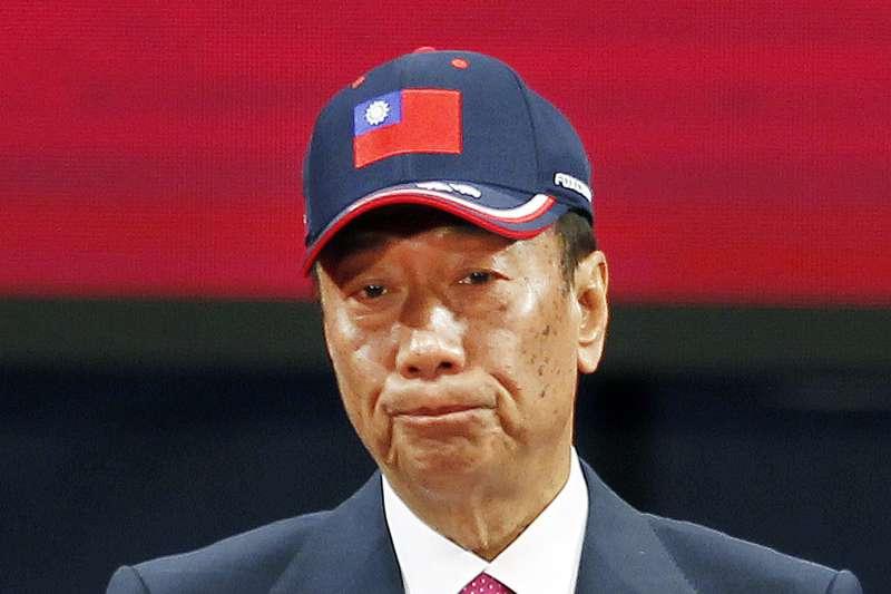 鴻海董事長郭台銘表示,這兩天會決定是否選總統,一旦要就要初選,拒絕徵召。(AP)
