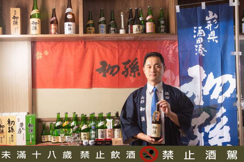 西村純擁有四分之一台灣血統,致力把「初孫」清酒引進台灣讓行家欣賞(圖/西村純)