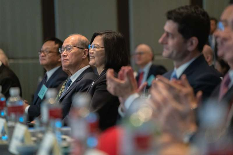總統蔡英文出席「2019印太安全對話開幕典禮」。(總統府提供)