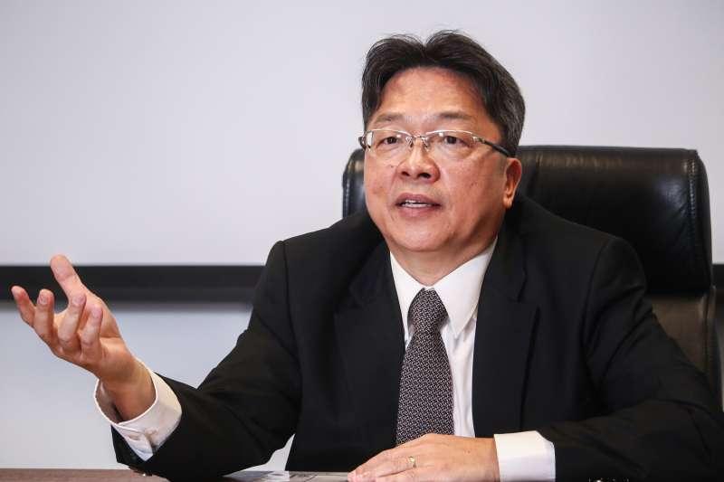20190417-台灣之星總經理賴弦五17日接受專訪。(蔡親傑攝)