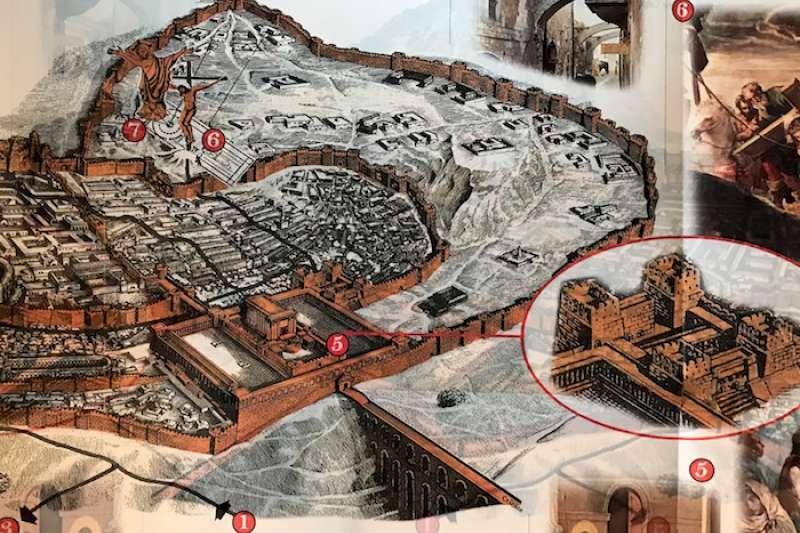 耶路撒冷耶穌受難地圖,5號為階梯處(曾廣儀攝)