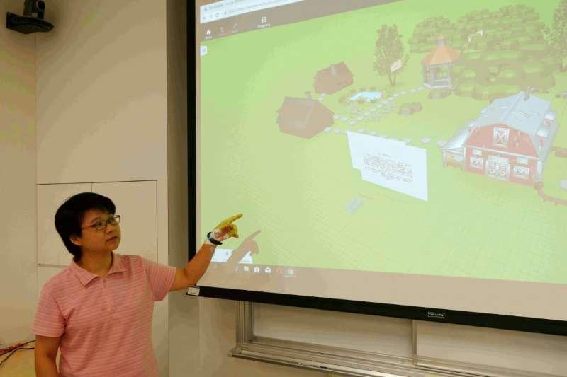 目前仍於台科大攻讀博士的周德嬚講師教學時,著重數位學習與跨文化溝通等多元技能。(圖/輔仁大學提供)