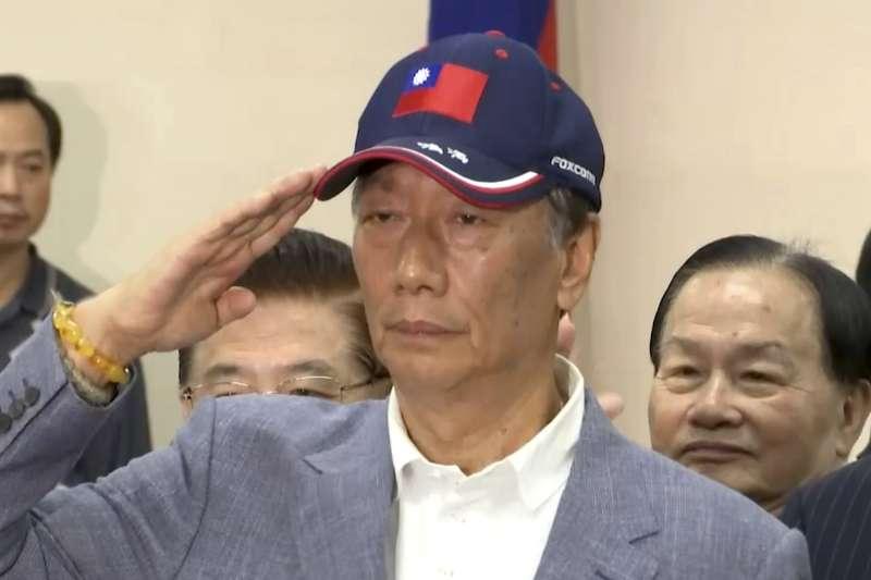 鴻海科技集團董事長郭台銘宣布投入2020年總統大選。(AP)