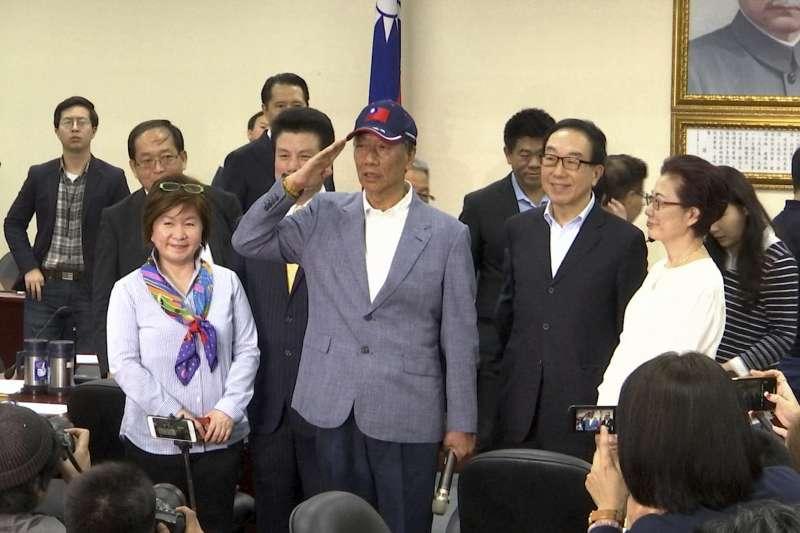 2019年4月17日,鴻海科技集團董事長郭台銘宣布投入2020年總統大選(AP)