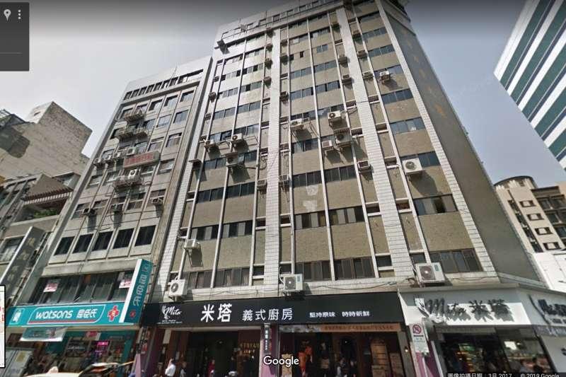 20190418-長安東路二段81號大樓(圖右)原就緊鄰隔壁大樓。(截取自google map)