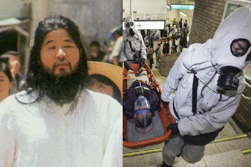 「奧姆真理教」是日本非常有名的邪教組織,策畫包括東京地鐵沙林毒氣事件等傷害無辜的惡劣行動,究竟教主為何要這麼做?甚至還有一票高知識分子追隨他?(圖/圖左AP、圖右翻攝自百度百科)